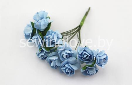 Розы бумажные голубые