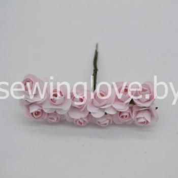 Розы бумажные нежно розовая