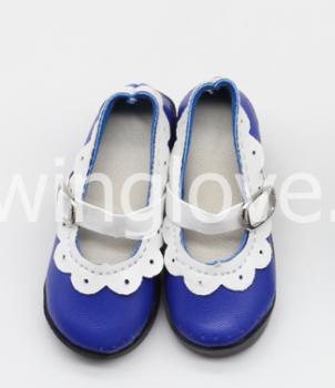 Туфли с каблуком синие